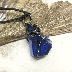 BOGO💫Wicked Persian Blue Sea Glass Pendant